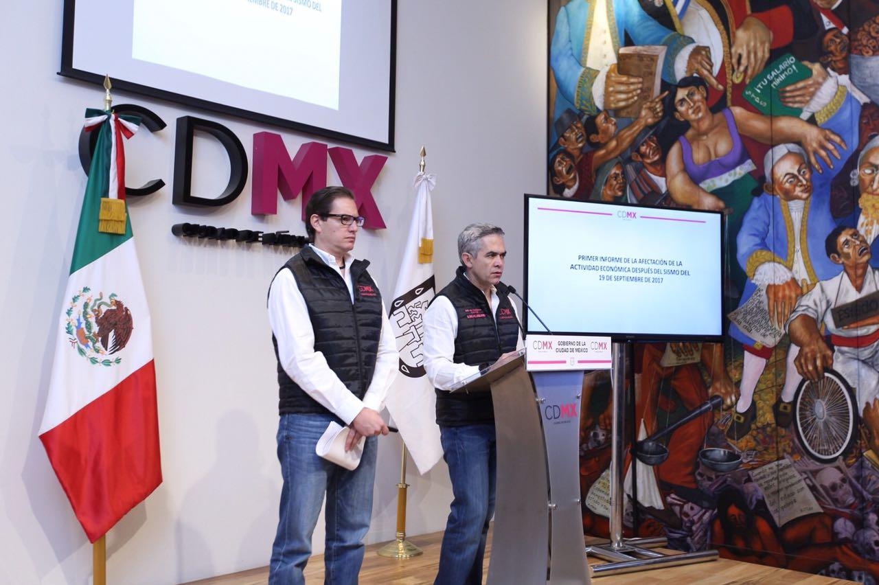 Otorgará Gobierno de CDMX créditos hasta por 3 mdp para reactivar economía de negocios afectados por sismo