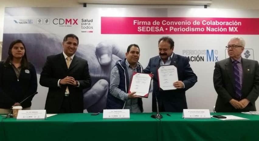 Firman acuerdo periodistas y la Sedesa CDMX; habrá atención médica para comunicadores sin seguridad social
