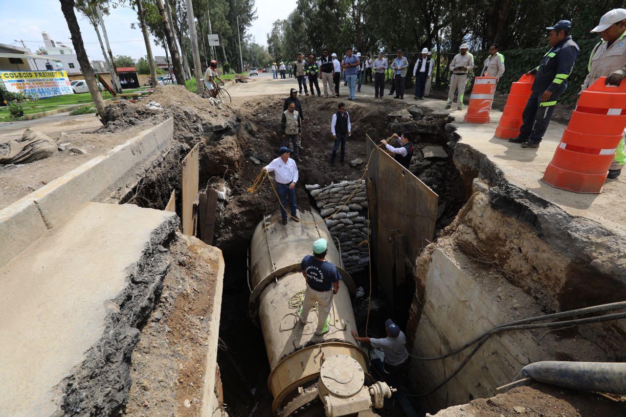 Trabaja Gobierno de CDMX en reparar fugas de agua derivadas de sismo; avance del 70%