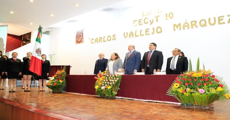 Festeja CECyT 10 Carlos Vallejo Márquez 45 años de su fundación