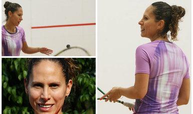 Samantha Terán lista para Mundial de Squash