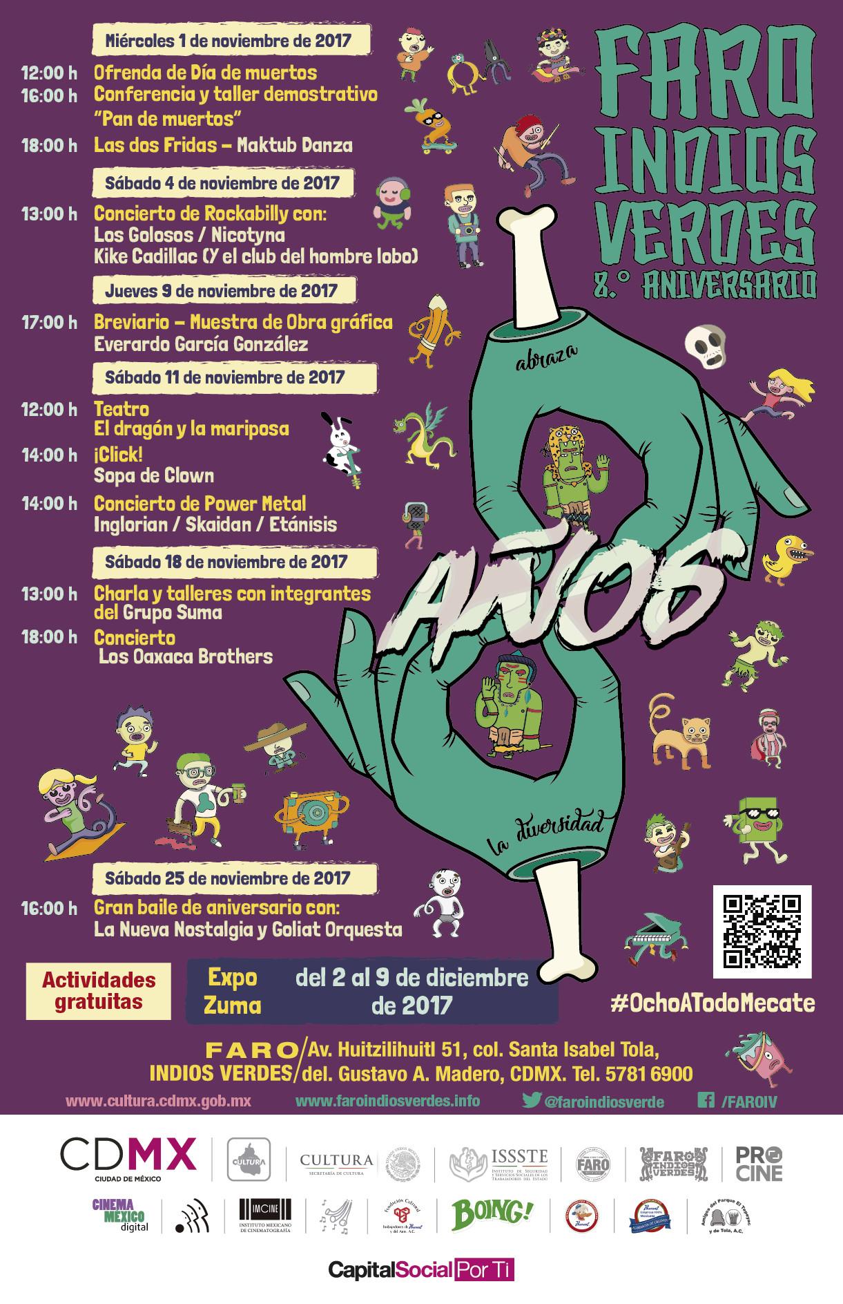 Celebrará el Faro Indios Verdes sus ocho años de vida cultural con música, baile y arte