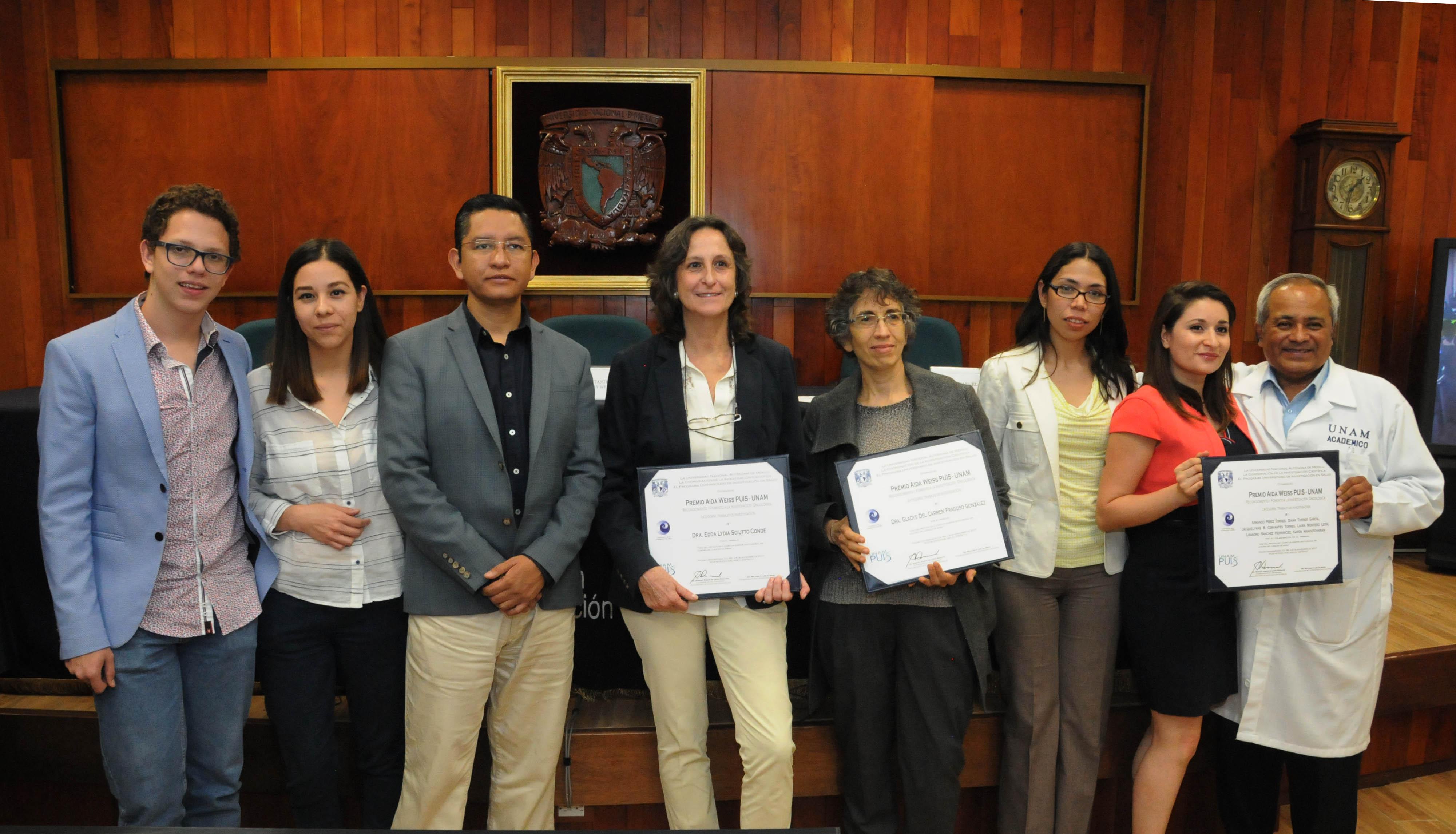 INVESTIGADORES DEL INSTITUTO DE BIOMÉDICAS DE LA UNAM OBTIENEN PREMIO AIDA WEISS PUIS-UNAM SOBRE CÁNCER
