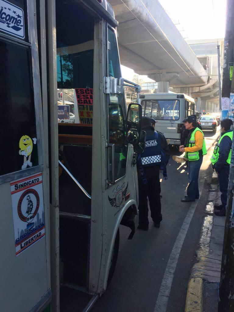 La Semovi, implementó operativos de verificación al transporte público concesionado