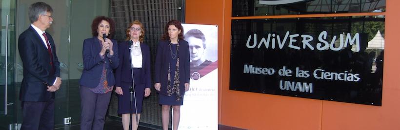 Honran el Conacyt y el museo Universum labor científica de María Sklodowska-Curie