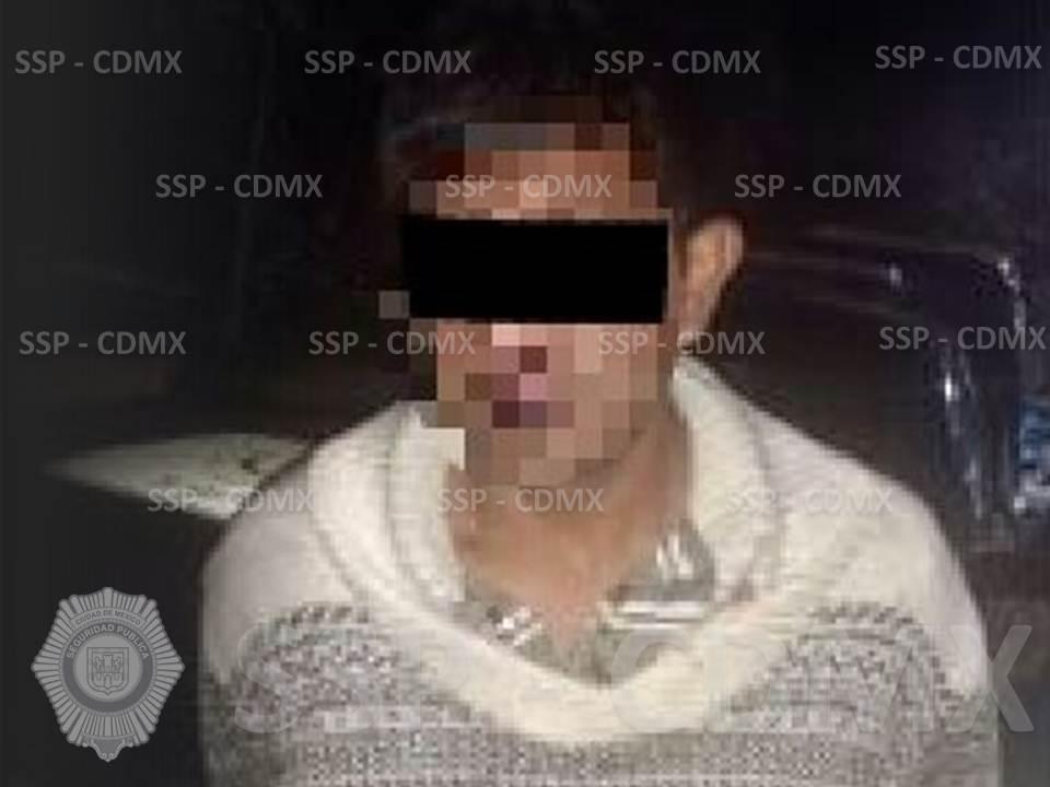 SSP-CDMX ASEGURÓ A UN HOMBRE POR VIOLENCIA FAMILIAR Y PORTACIÓN DE ARMA DE FUEGO