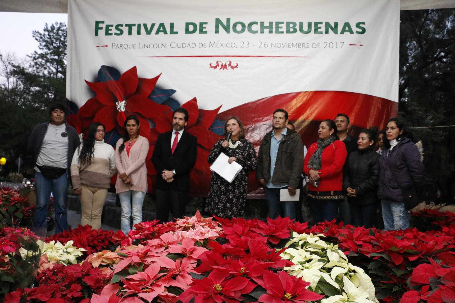 INICIA FESTIVAL DE NOCHEBUENAS EN PARQUE LINCOLN