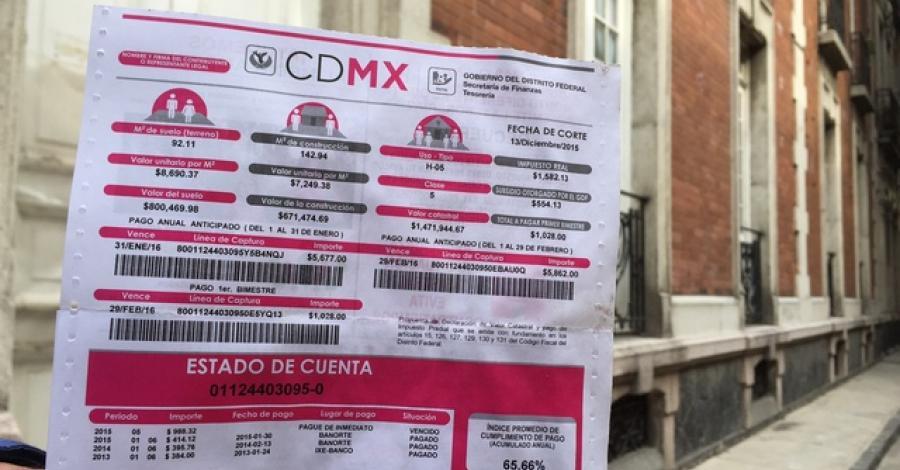 Son válidas tarifas de predial 2017