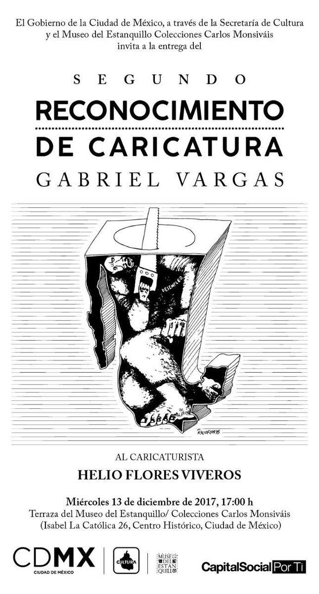 Helio Flores recibirá el Reconocimiento de Caricatura Gabriel Vargas en el Museo del Estanquillo
