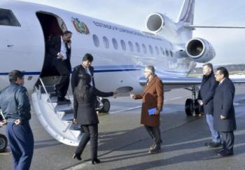 Morales llega a Suiza para sellar acuerdo que impulsará el proyecto del tren bioceánico