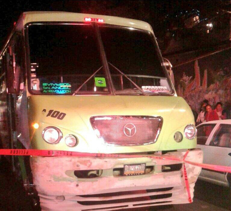 SEMOVI sanciona ramal San Ángel - Tanque por estar involucrada en un percance vial