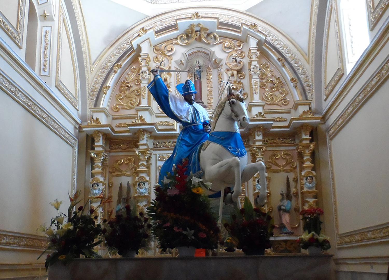 Trasladan la escultura de Santiago Apóstol a la Coordinación Nacional de Conservación del Patrimonio Cultural