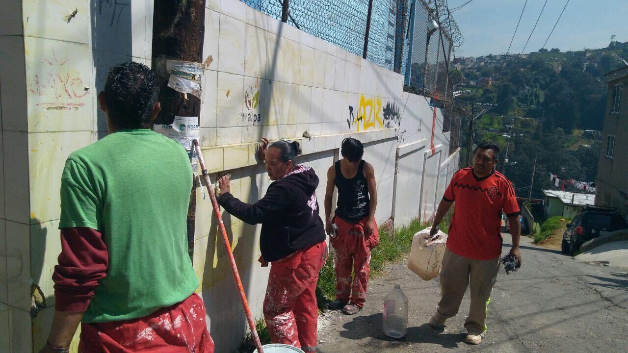 Programa Antigraffiti, Escuela Valerio Trujano, San Pablo Chimalpa.