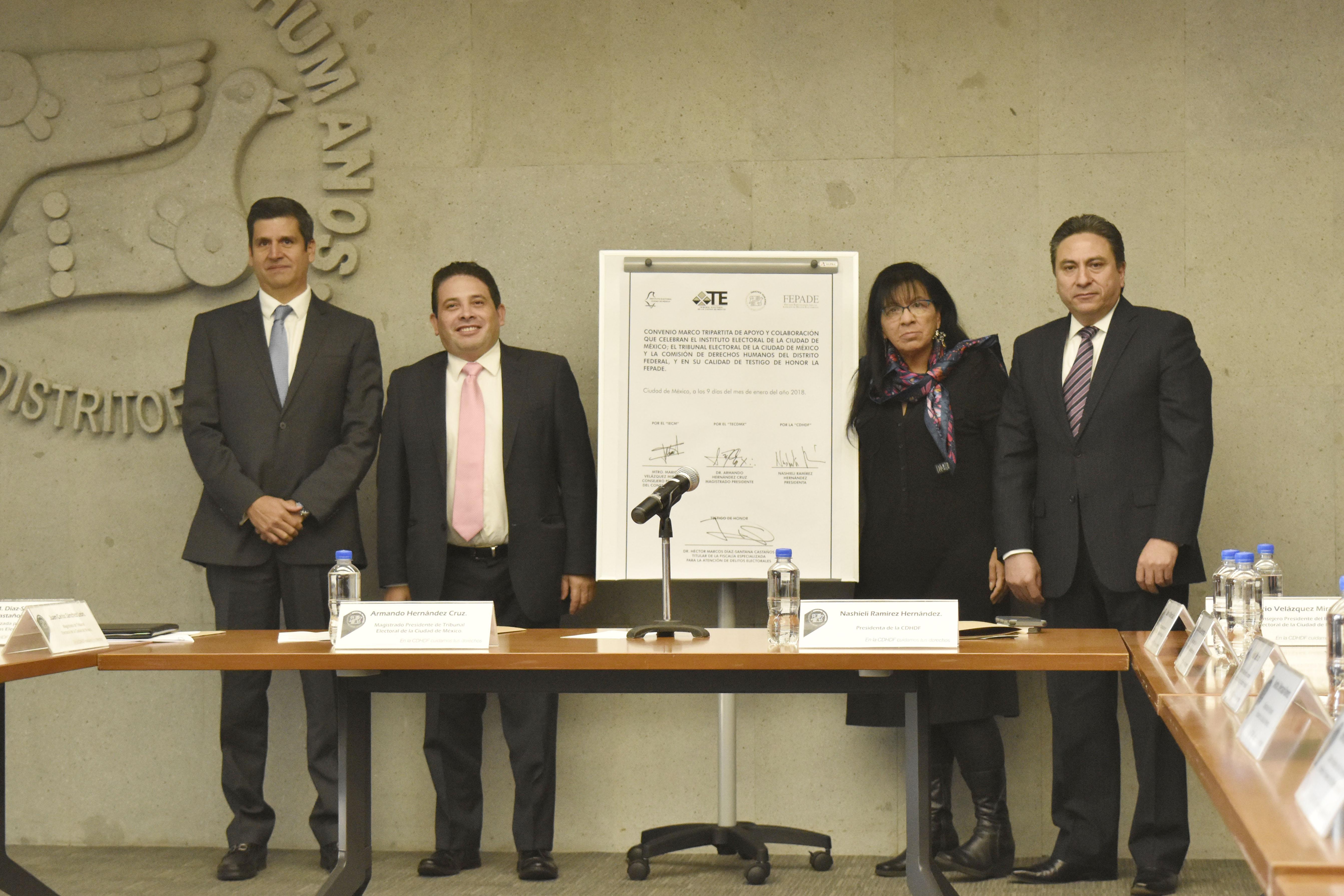 Buscan TECDMX, CDHDF e IECM erradicar la violencia y garantizar el ejercicio de los derechos político-electorales