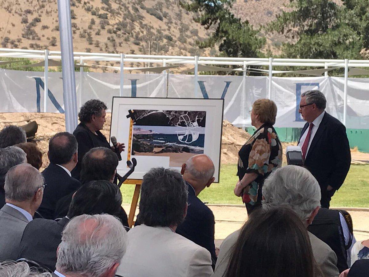 La Mandataria chilena participó en la ceremonia de puesta en marcha del Proyecto Académico Laguna Carén