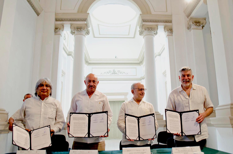Firman convenio de colaboración el INAH y la UADY