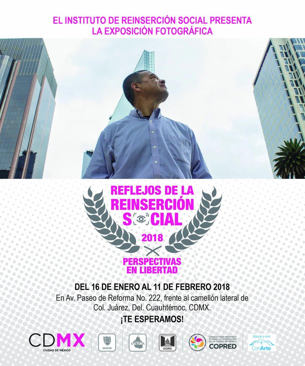 Usuarios del Instituto de Reinserción Social exponen muestra fotográfica en Paseo de la Reforma