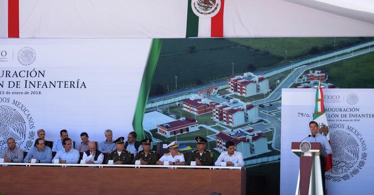Inauguración del 79 Batallón de Infantería y su Unidad Habitacional Militar