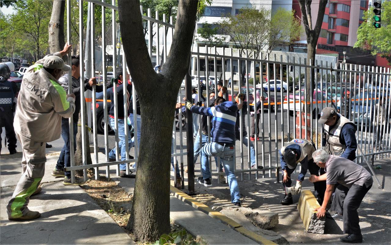 Libera Tlalpan vialidad cerrada de manera irregular