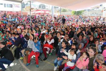 Se realizo el evento de día de reyes en San Lorenzo Acopilco, Cuajimalpa