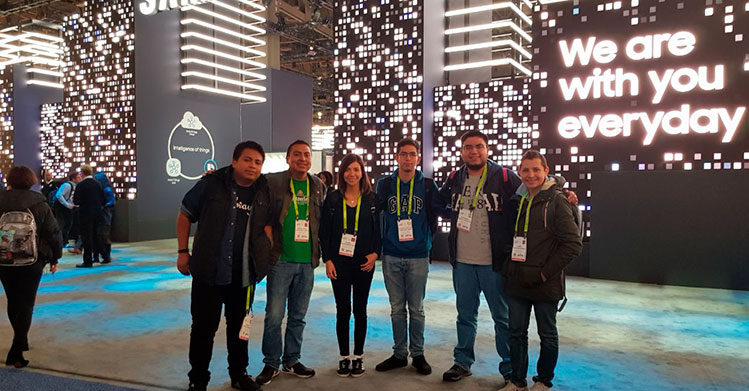 Politécnicos en el Consumer Electronics Show en Estados Unidos