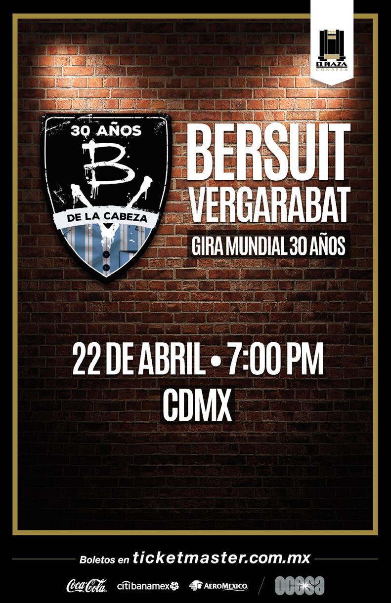 Bersuit Vergarabat celebrará 30 años de música en El Plaza Condesa