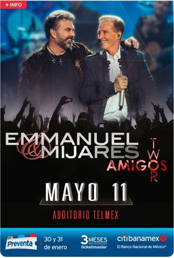 Emmanuel & Mijares conquistarán una vez más el Auditorio Telmex