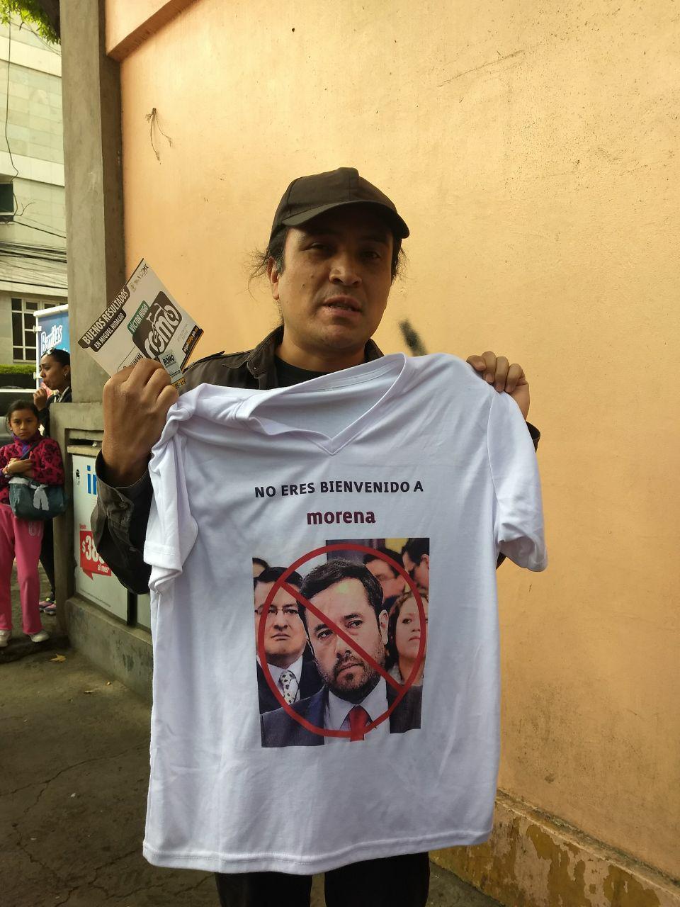 Militantes de Morena rechazan la imposición de Víctor Hugo Romo como candidato a la Alcaldía de Miguel Hidalgo