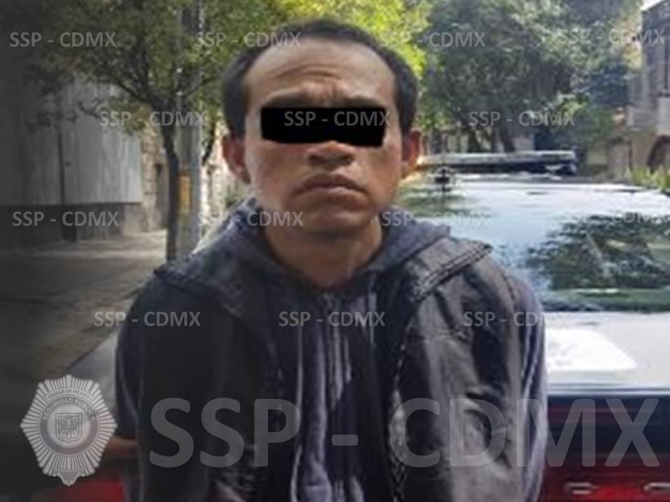 SSP-CDMX ASEGURA A RESPONSABLE EN EL DELITO DE ROBO A UN DESPACHO JURÍDICO EN CUAHTÉMOC