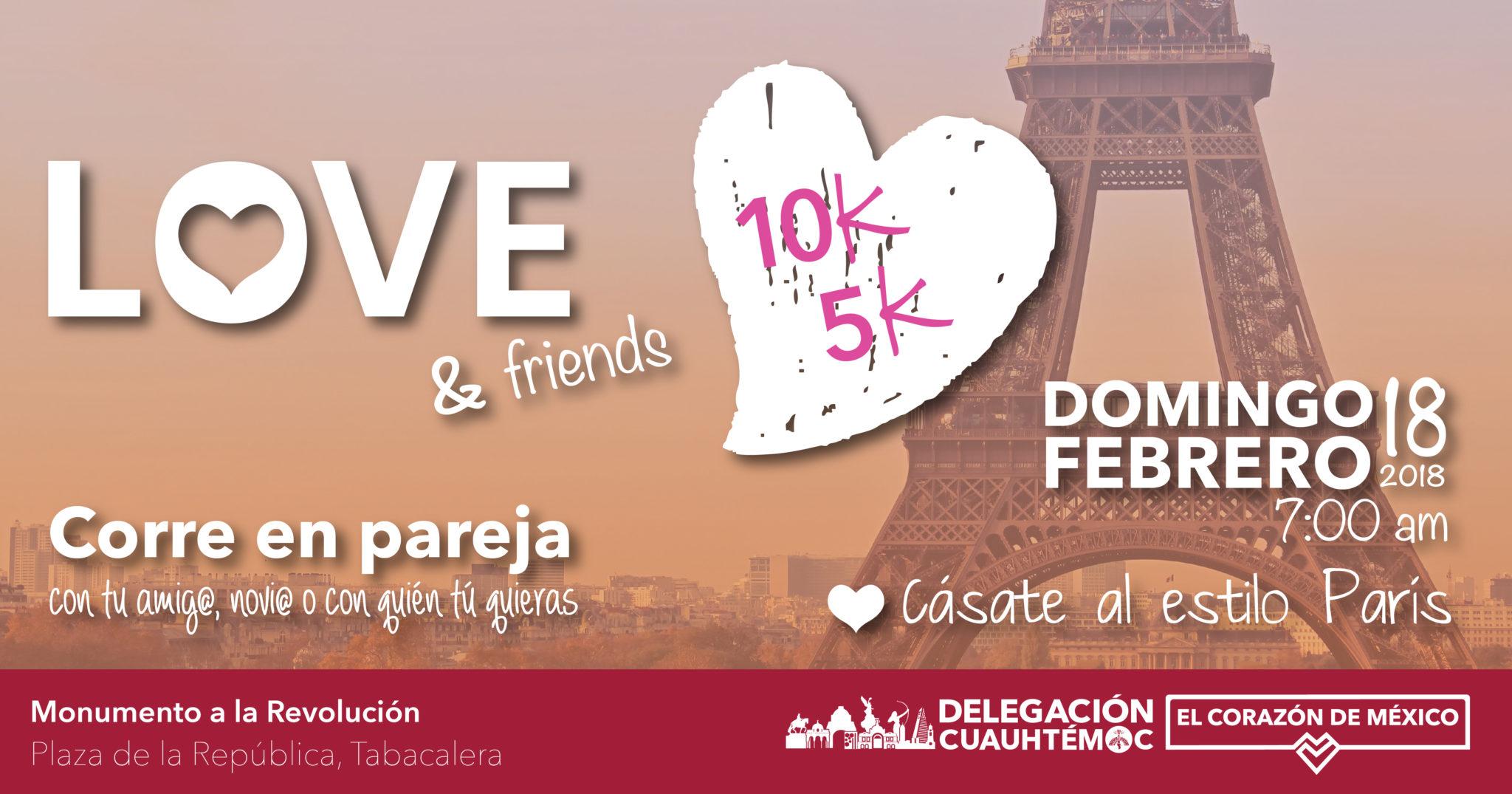 INVITAN A PARTICIPAR EN EDICIÓN 2018 DE LA CARRERA LOVE & FRIENDS 5K Y 10K