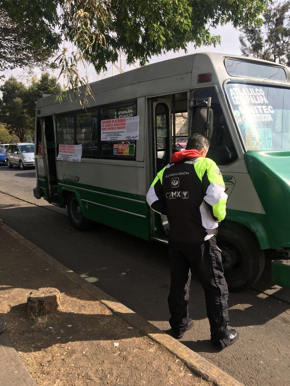 Semovi informa que 516 unidades de transporte público fueron sancionadas