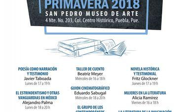 Abren convocatoria a Talleres Literarios de Primavera 2018 en Puebla