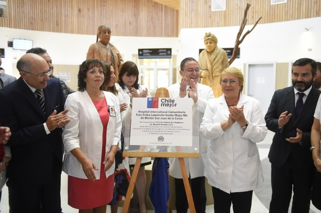 Michelle Bachelet inauguró Hospital en la comuna de San Juan de la Costa, Chile