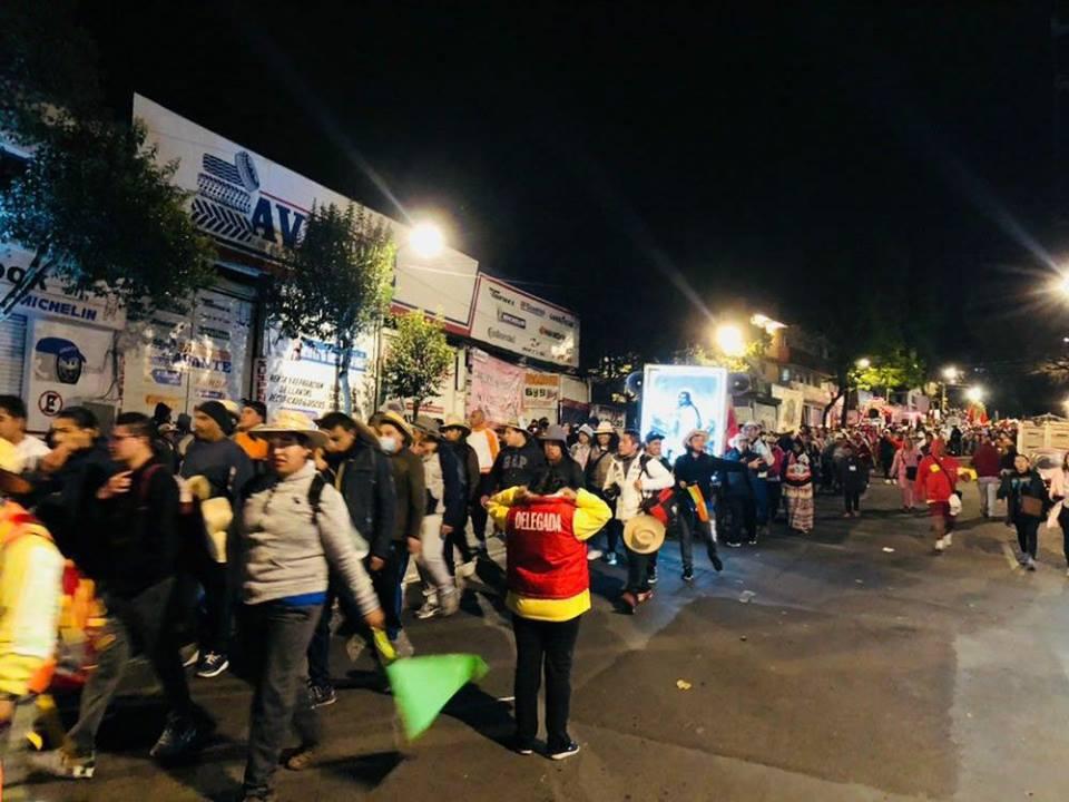 Arriban a la delegación Cuajimalpa al rededor de 55 mil peregrinos, provenientes de la Diósesis de Toluca