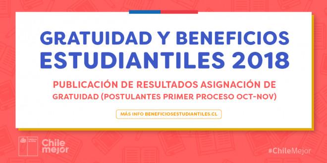 Más de 97 mil estudiantes chilenos accedieron a Gratuidad en la primera asignación 2018