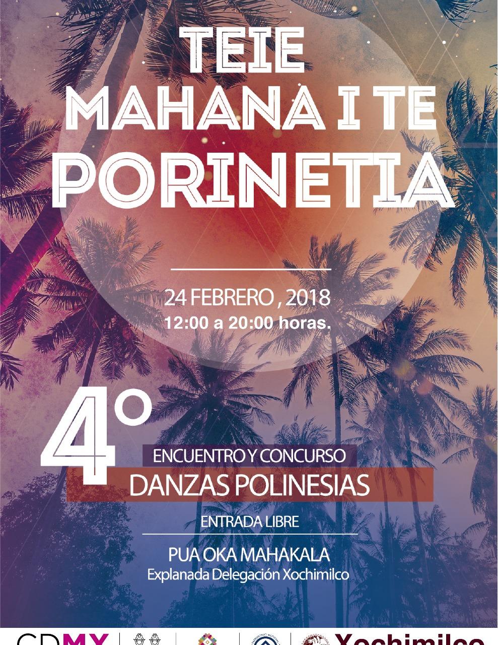 4 ENCUENTRO Y CONCURSO DE DANZA POLINESIAS ESTE FIN DE SEMANA EN XOCHIMILCO