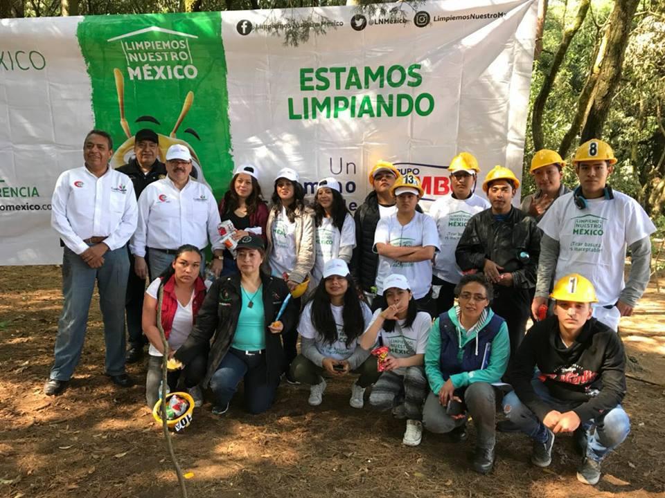 Limpiemos Nuestro México 2018, Mega Jornada de limpieza en el bosque El Ocotal