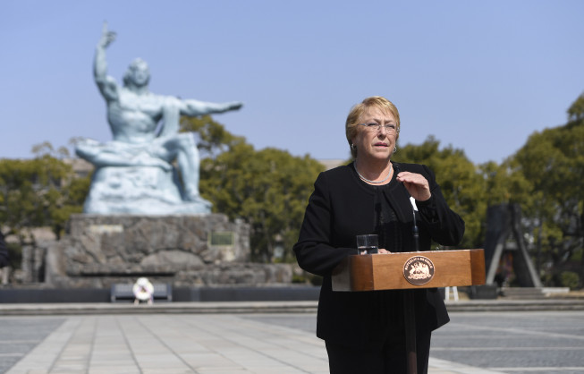 Presidenta Bachelet en Nagasaki: Nuestro compromiso es a favor de la paz y a favor del desarme nuclear