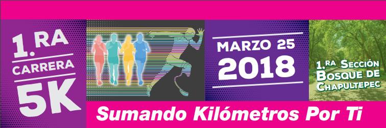 Primera Carrera de 5 km, Sumando Kilómetros Por Ti