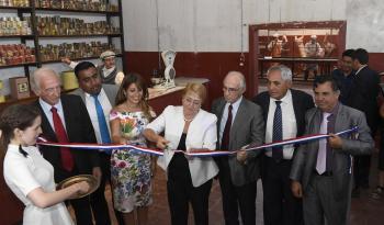 Mandataria chilena inaugura nuevas instalaciones de la oficina salitrera de Humberstone