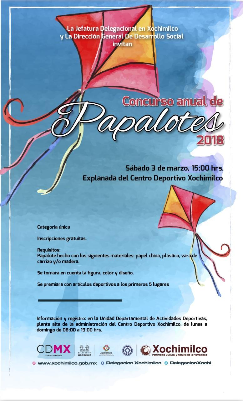 INVITA XOCHIMILCO AL CONCURSO ANUAL DEL PAPALOTES