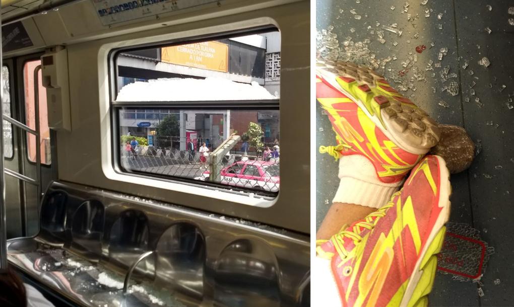 Golpean a una mujer en el metro