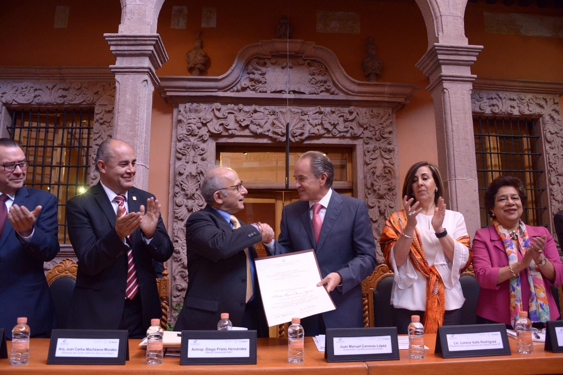 Centro Histórico de San Luis Potosí recibe certificación de Patrimonio Mundial por parte del INAH y de la UNESCO
