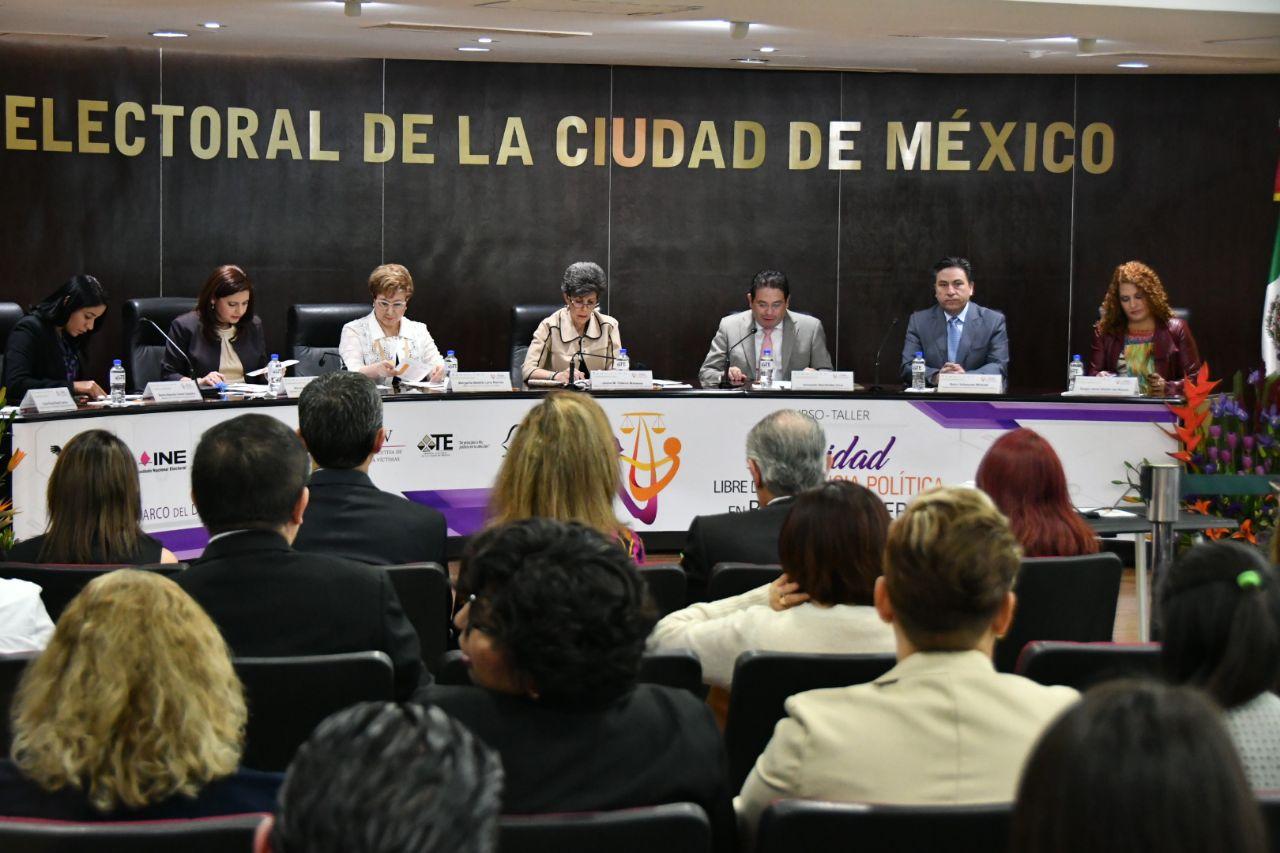 Imparten autoridades electorales, federales y locales, taller contra violencia política de género