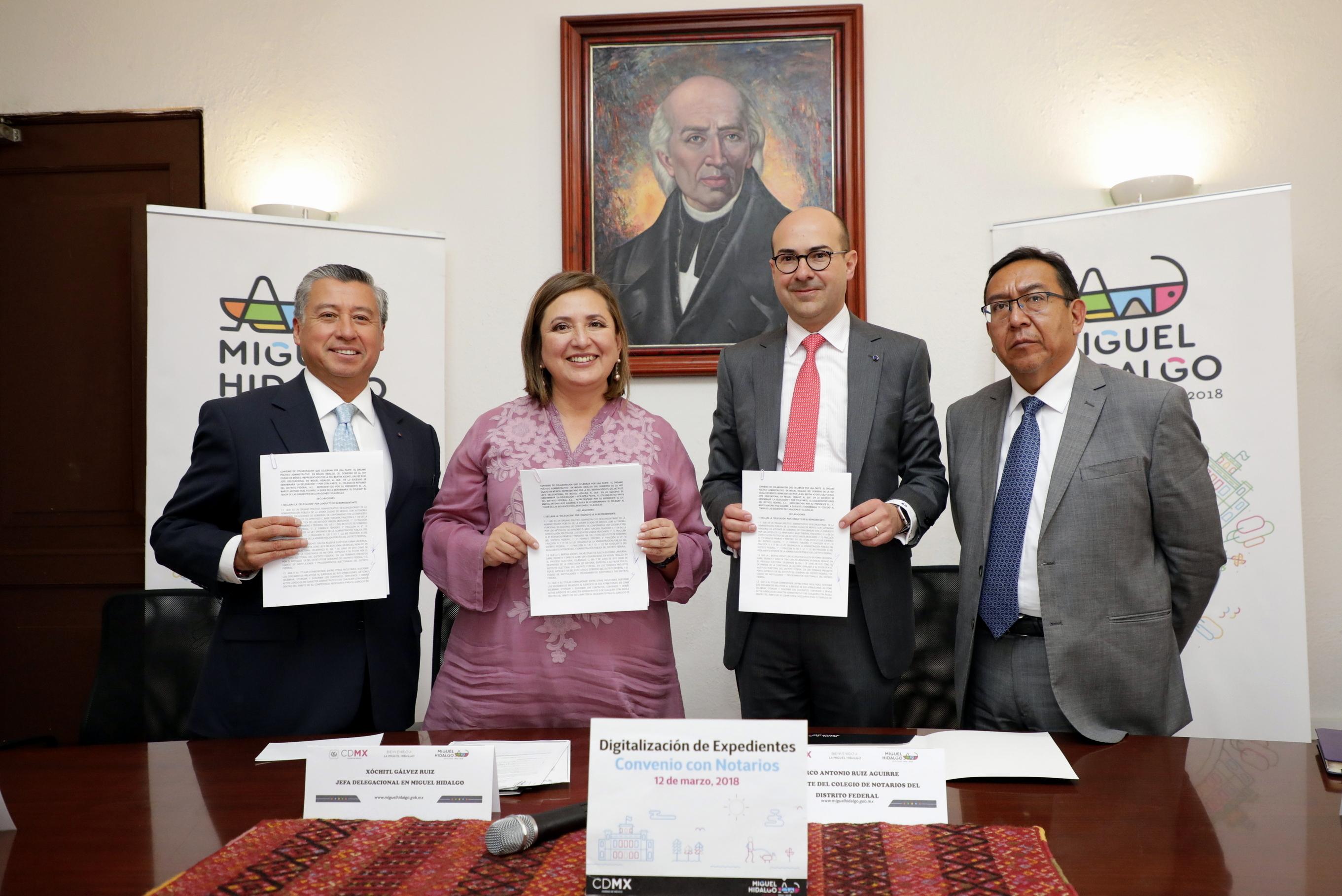 FIRMAN DMH Y COLEGIO DE NOTARIOS CONVENIO  PARA INHIBIR CORRUPCIÓN INMOBILIARIA