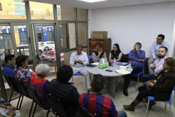 AUTORIDADES DE LA CUAUHTÉMOC Y DEL GCDMX REVISAN CON LOCATARIOS DEL MERCADO HIDALGO ACCIONES A SEGUIR