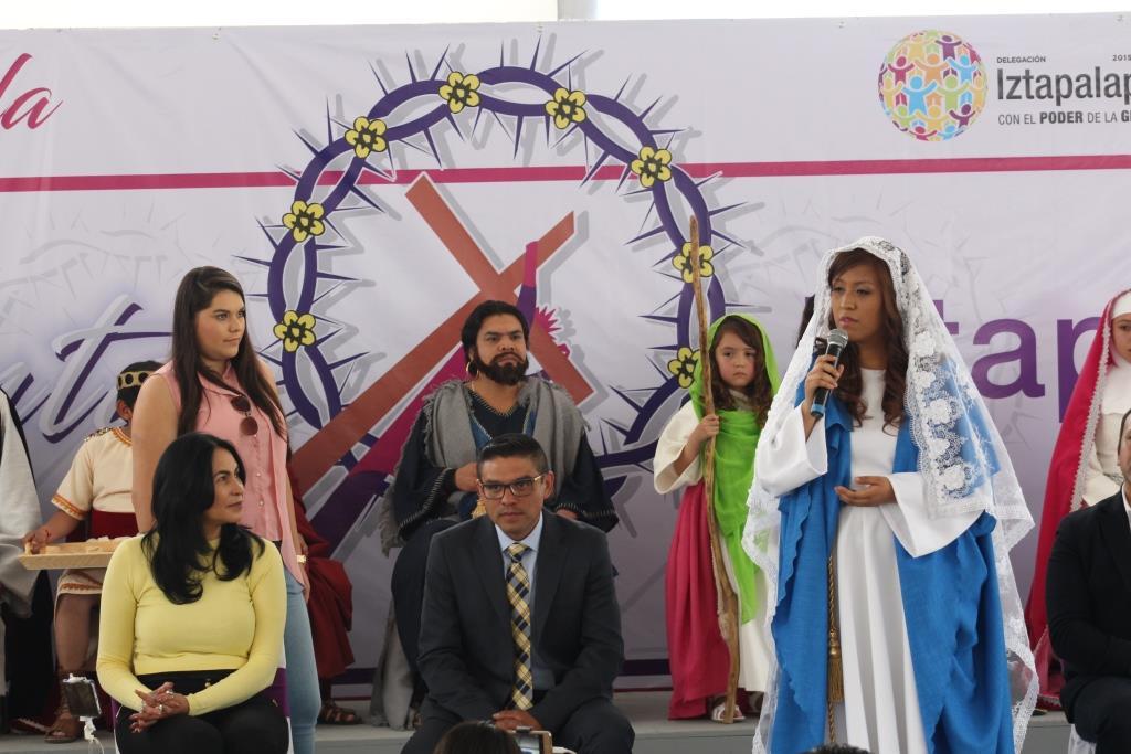 PREPARADA IZTAPALAPA PARA LA 175 REPRESENTACIÓN DE SEMANA SANTA: DIONE ANGUIANO