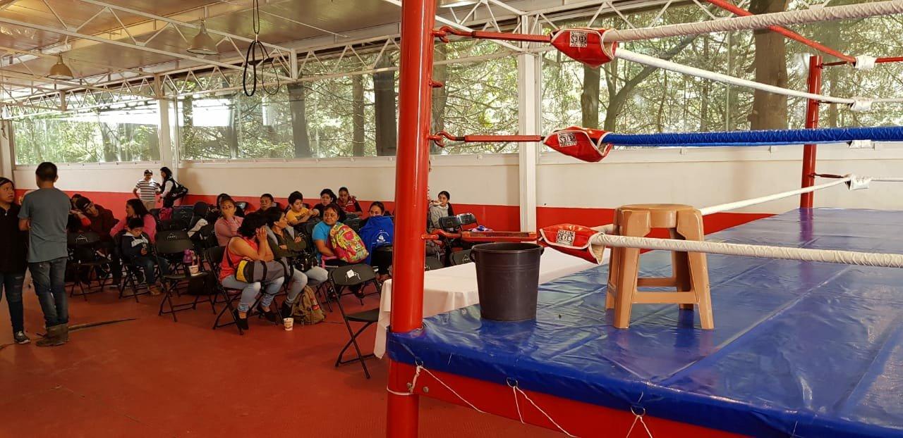Torneo de Box en el Deportivo Chimalpa.