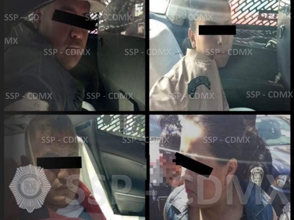 DETIENEN POLICÍAS DE LA SSP-CDMX A 4 PERSONAS RELACIONADAS AL DELITO DE ROBO A NEGOCIO CON VIOLENCIA