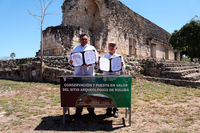 INAH y gobierno de Yucatán firman convenio para poner en valor las principales zonas arqueológicas de la entidad